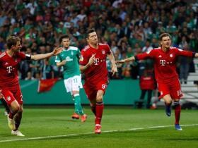 SINGKIRKAN BREMEN, BAYERN MUNICH KE FINAL DFB-POKAL