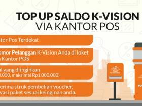 TOP-UP SALDO K-VISION DI KANTOR POS